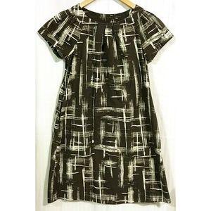 Simply Vera Wang Black White Graphic Print Dress